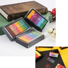 Multi Colors Ink Pad Oil Based DIY Craft For Rubber Stamps Paper Wood Fabric HOT