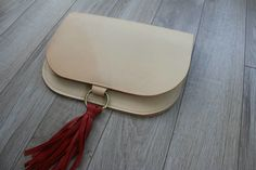 DIY leather tassel clutch with free pattern
