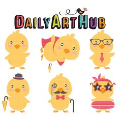 FREE Cute Easter Chicks Clip Art Set