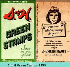 Saved enough stamps for a bowling ball back in the day!