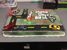 Grand Theft Auto V cake for GameStop
