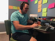 Vince Fabra records his podcast with his friend Luke Smitherman. - PROVIDED