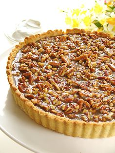 Pecan Praline Tart baked in a homemade tart shell; doesn't get any better than this kids!!!!!
