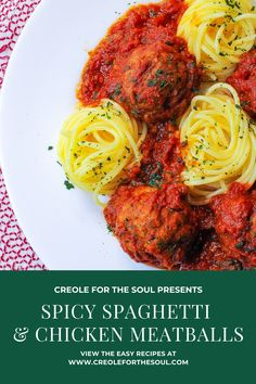 Gluten Free Noodles, Gluten Free Pasta, Barilla Pasta Sauce, Ground Chicken Meatballs, Spicy Spaghetti, Chicken With Italian Seasoning, Creole Recipes, How To Cook Pasta, No Cook Meals