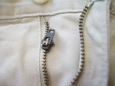Tutorial: How to Fix a Broken Zipper - I just did this to save my favorite pair of capris, and it was so fast and easy!
