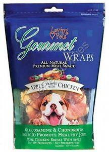 Loving pet gourmet wraps apple chicken 8oz