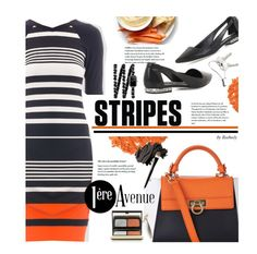 Stripes - Joseph Ribkoff Spring Collection by beebeely-look on Polyvore featuring Joseph Ribkoff, BCBGMAXAZRIA, Salvatore Ferragamo, Chanel, Georg Jensen, Kevyn Aucoin, Illamasqua, Bobbi Brown Cosmetics, Yves Saint Laurent and country
