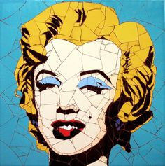 It's Madonna on the tiles: Celebrity portraits made from hundreds of tiny tile fragments Promi-Porträts aus Hunderten winziger Fliesenfragmente – Artist Ed Chapman Andy Warhol Marilyn, Andy Warhol Pop Art, Marilyn Monroe Art, Mosaic Portrait, Portrait Art, Madonna, Mosaic Pieces, Social Art, Celebrity Portraits