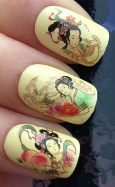 NAIL ART WRAP WATER TRANSFER DECALS ORIENTAL FLORAL GEISHA GIRLS #10. COMPLETE WITH RHINESTONE GEMS! by at.your.fingertips.nailart.design, http://www.amazon.co.uk/dp/B008X31OIS/ref=cm_sw_r_pi_dp_-OdLtb0Z8ZR2M