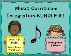 ***$4.00*** Music Curriculum Integration BUNDLE #1