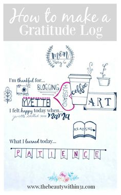 How to make a gratitude journal and how I use doodle art to express my blessings! Plus free printable so that you can make your own gratitude journal.