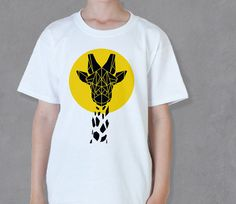 Cool Deer Head Tee For Kids Skater Tshirt Gender by Stencilize