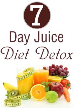 The 7 day juice diet detox plan is a quick fix to a healthy body. Detox Diet Drinks, Detox Juice Recipes, Detox Diet Plan, Healthy Recipes, Detox Juices, Cleanse Detox, Juice Cleanse, Cleanse Recipes, Detox Foods