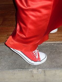 Red Converse#wedding #dress