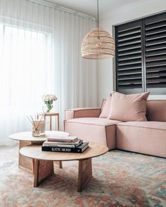 All of the best things in one space. Always loving your style, Styled with our Odette Blue Orange Medallion Vintage Rug. View the other designs and colours on our website. Living Room Designs, Living Room Decor, Living Spaces, Best Sofa, New Room, Lounge, Interior Design, Furniture, Pink Sofa