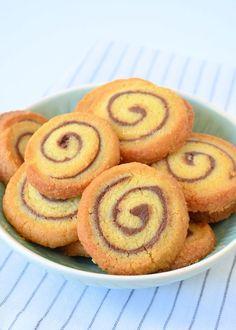 Nutella swirl koekjes (Laura's Bakery) Sweet Cookies, No Bake Cookies, Cupcake Cookies, No Bake Cake, Sweet Treats, Köstliche Desserts, Healthy Desserts, Delicious Desserts, Yummy Food