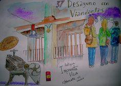 37 Desayuno con viandantes, en Valencia, by Josep Castellanos