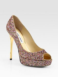 Jimmy Choo - Crown Glitter Platform Pumps - Saks.com