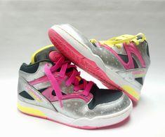 4afd7ee5c28 Reebok Girls Pump Omni Lite Classic Fusion Sneaker Sport Shoe Size 6