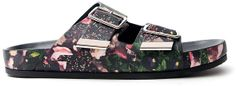 Givenchy Floral Print Buckle Sandal on shopstyle.com