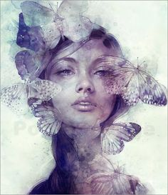 This collection of stunning portrait illustrations was created by Anna Dittmann, a digital illustrator from San Francisco currently working on her BFA in Illustration. You may find a couple of beautiful faces you recognise below Art And Illustration, Portrait Illustration, Portraits Illustrés, L'art Du Portrait, Fantasy Portraits, Woman Portrait, Digital Portrait, Fantasy Kunst, Fantasy Art