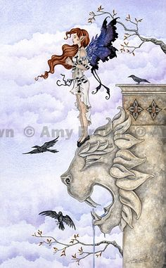 Fairy Art Artist Amy Brown: The Official Online Gallery. Fantasy Art, Faery Art, Dragons, and Magical Things Await. Amy Brown Fairies, Dark Fairies, Fantasy Fairies, Dragons, Elfen Fantasy, Tarot Major Arcana, Mystique, Fairy Art, Magical Creatures
