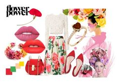 """""""flower power"""" by lenka-hirmanova on Polyvore featuring Dolce&Gabbana, A.L.C. and Lime Crime"""