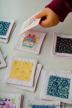 matching game with fabric scraps tutorial from What's Mummy Up To