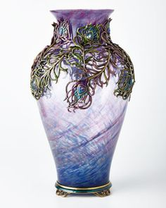 Grand Peacock Vase by Jay Strongwater at Horchow. One of the most beautiful things I have ever seen.