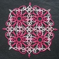 25 Motif Challenge: Bookmarks, flowers, doilies and Olympic tatting