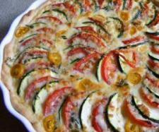 Tomaten-Zucchini-Quiche - Thermomix - Super lecker! Aber Backzeit ist wesentlich länger... Bestimmt 50-60 Minuten... Obwohl ich die Kruste 10-15 Minuten vorgebacken habe.