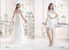 ¿Quieres casarte en una isla, en pleno verano? Cala Brides de Villais: vestidos de novia ibicencos