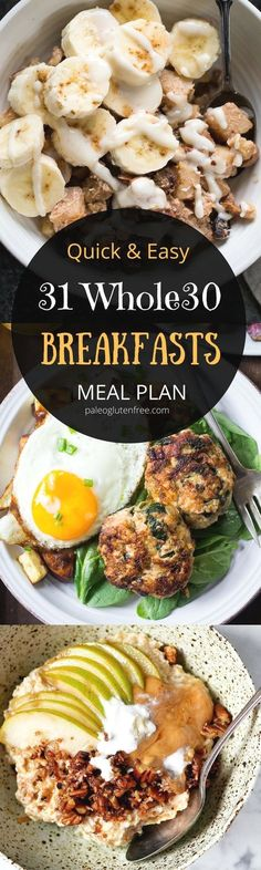 Best whole30 breakfast recipes all in one place. 31 days of whole30 breakfast recipes! Whole30 meal plan that's quick and healthy! Whole30 recipes just for you. Whole30 meal planning. Whole30 meal prep. Healthy paleo meals. Healthy Whole30 recipes. Easy W