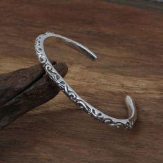 42f58b06b188e3 Hot Sale Cross vine flower bangle 925 sterling silver bracelet bangle for  women or men fine fashion jewelry brand