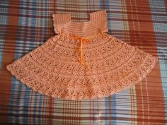 Click to view pattern for - Crochet apricot dress for girl