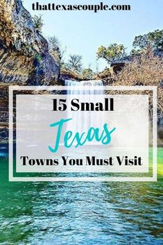 15 Small Texas Towns You Must Visit - - Looking for the best small towns in Texas? Then this post of Texas small towns is just what you need and it's created by a native Texan! Texas Roadtrip, Texas Travel, Travel Usa, Globe Travel, China Travel, Paris Texas, Texas Hill Country, Voyage Au Texas, State Parks