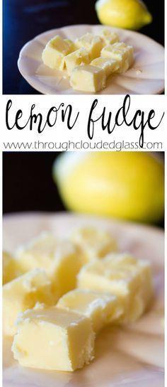 Through Clouded Glass: Lemon Fudge Recipe