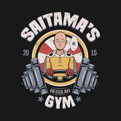 One Punch Man T-Shirt by Typhoonic aka David Canomonzon. SAITAMA'S GYM. One Punch Man design!