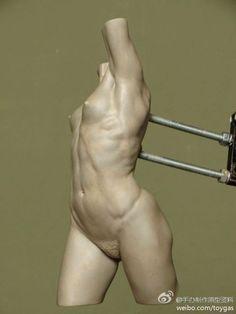 发几张结构明显,具有参考价值的女性躯干雕...