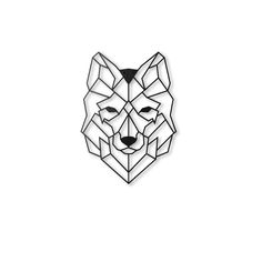 Decoratief wandobject Wolf | Westwing Home & Living