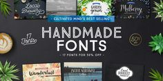Cultivated Mind's Best Selling Handmade Fonts « MyFonts