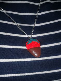 #fragola #cioccolato #fimo #creazione #fattaamano #fimocreations #strawberry