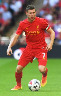 James Milner Photos - James Milner of Liverpool in action during the International Champions Cup match between Liverpool and Barcelona at Wembley Stadium on August 2016 in London, England. - International Champions Cup: Liverpool v Barcelona Fc Liverpool, Liverpool Football Club, Best Football Team, Football Players, Juergen Klopp, James Milner, Liverpool Fc Wallpaper, International Champions Cup, Football Stickers