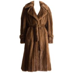 Christian Dior Haute Couture wild mink coat, circa 1960s ($12,666) ❤ liked on Polyvore featuring outerwear, coats, mink fur coat, christian dior, christian dior coat, brown coat and mink coat
