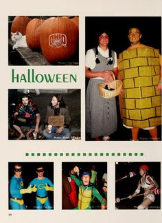 Athena Yearbook, 2005. Students dress up in many different costumes and go all out for Halloween. :: Ohio University Archives