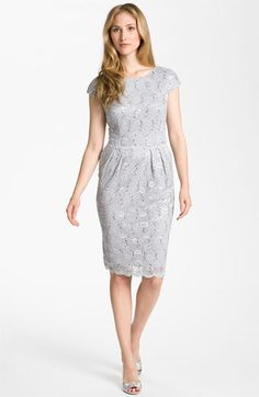 MOH- or MOB- Alex Evenings Sequin Lace Overlay Sheath Dress available at #Nordstrom