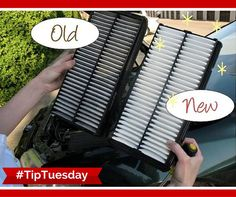 Replacing your air filter can increase your gas mileage by up to 10%! #TipTuesday