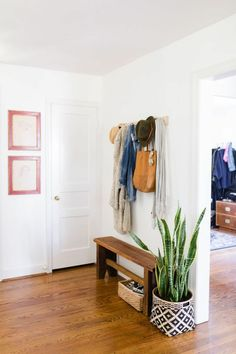 31 Amazing Mudroom And Entryway Benches, foyer decor with hooks Entryway Furniture: Do Not Neglect Y Entryway Shoe Storage, Entryway Decor, Entryway Ideas, Entryway Hooks, Hallway Ideas, Hallway Bench, Entrance Ideas, Entry Hallway, Bench Entry Way