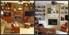 before and after fireplace ideas - Google Search