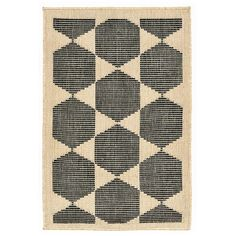 $18  (for inside slippers) Terrace Agra Tile Charcoal Rug - Liora Manne : Target